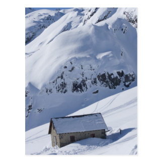 paysage neigeux carte postale