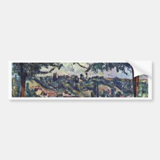 Paysage par Paul Cézanne (la meilleure qualité) Autocollant Pour Voiture