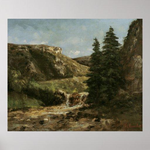Paysage près d'Ornans, c.1858 Poster