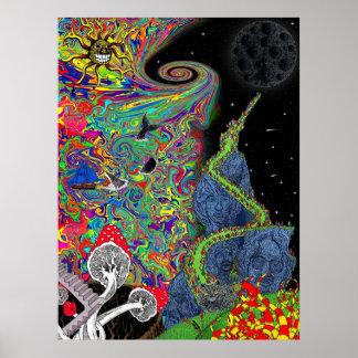 Paysage psychédélique poster