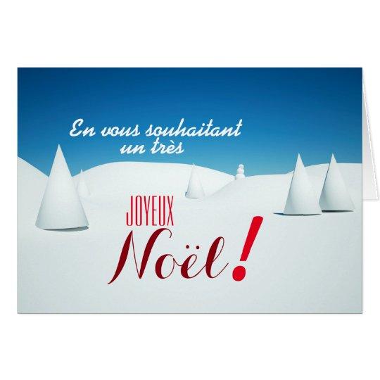 Paysage sous la neige 3D art Carte de Noel