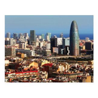 Paysage urbain de Barcelone Cartes Postales