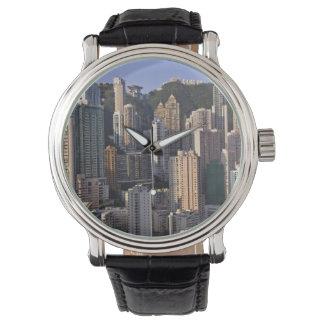 Paysage urbain de Hong Kong, Chine Montres Bracelet