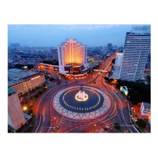 Paysage urbain de Jakarta Carte Postale