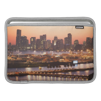 Paysage urbain de Miami Poches Pour Macbook Air