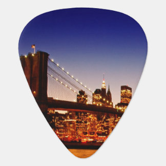 Paysage urbain de New York avec le pont au-dessus Onglet De Guitare