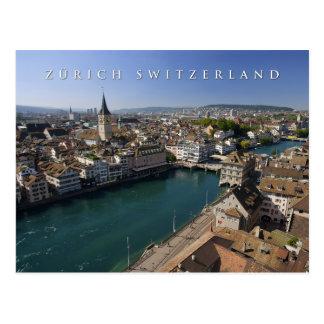 paysage urbain de Zurich Suisse Carte Postale
