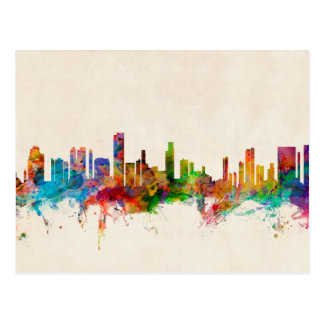 Paysage urbain d'horizon de Honolulu Hawaï Carte Postale
