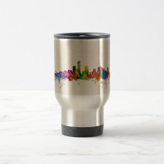 Paysage urbain d'horizon de Milwaukee le Wisconsin Mug De Voyage