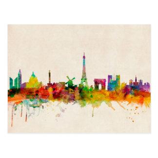 Paysage urbain d'horizon de Paris France Carte Postale