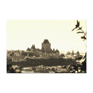 Paysage urbain du Québec de sépia Toile
