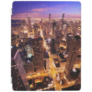 Paysage urbain la nuit de Chicago Protection iPad