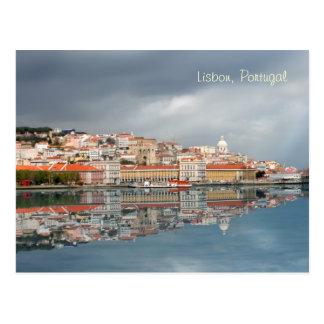 Paysage urbain pittoresque de Lisbonne, Portugal Carte Postale