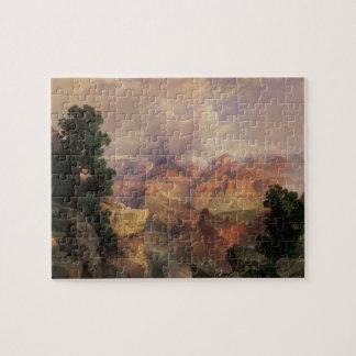 Paysage vintage, canyon grand par Thomas Moran Puzzle