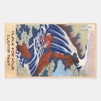 Paysage vintage de cascade d'ukiyo-e japonais frai autocollants