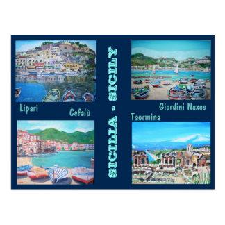 Paysages de la Sicile - carte postale