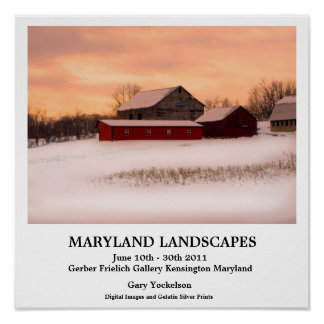 Paysages du Maryland Posters