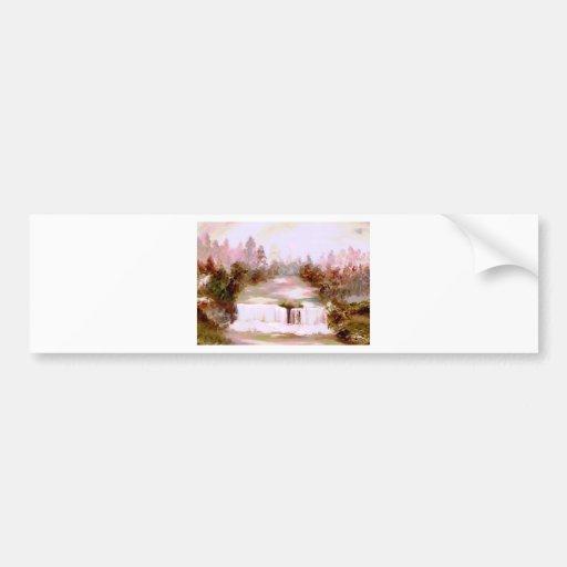 Paysages romantiques de cascade de cascades de cri adhésifs pour voiture