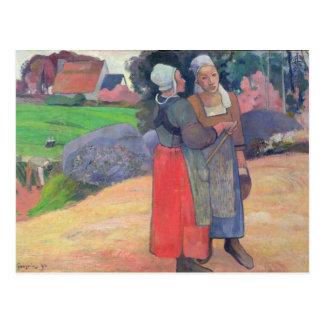 Paysans bretons, 1894 carte postale