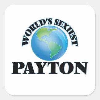 Payton le plus sexy du monde sticker carré