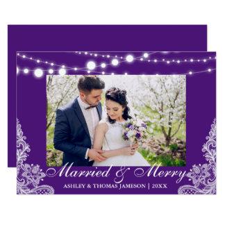 PB marié et joyeux élégant de carte photo de