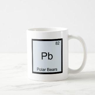 Pb - symbole drôle d'élément de chimie d'ours mug blanc