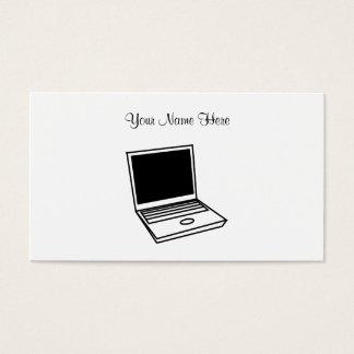 PC d'ordinateur portable, votre nom ici Cartes De Visite
