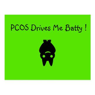 PCOS me conduit carte postale timbrée de Halloween
