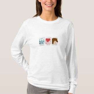 peace_love_horses t-shirt