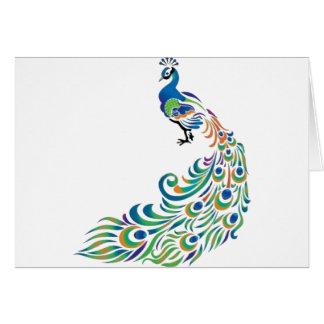 Peacock Carte De Vœux