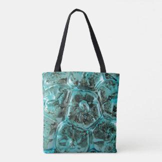 Peau bleue turquoise en verre de crocodile de sac