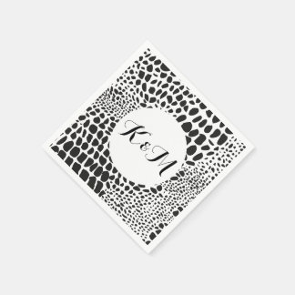 serviettes noir et blanc zazzle. Black Bedroom Furniture Sets. Home Design Ideas