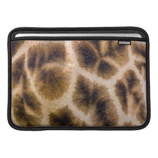 Peau de girafe (Giraffa Camelopardalis) Poches Pour Macbook Air