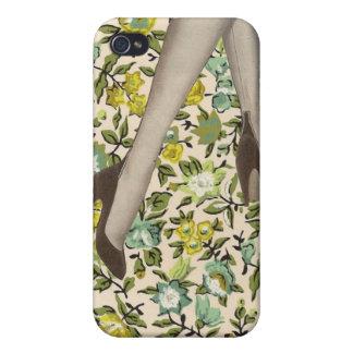 Peau de l iPhone vintage floral 4 de fleurs et de Coques iPhone 4