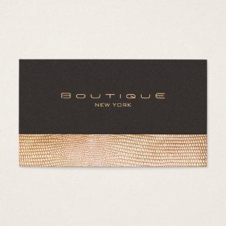 Peau de serpent d'or et boutique de mode de suède cartes de visite
