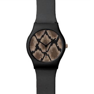 Peau de serpent montres