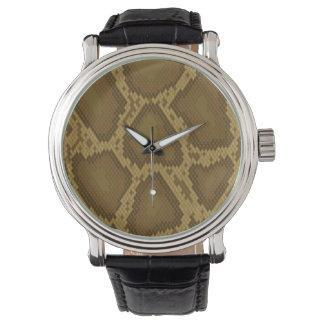 Peau de serpent, motif de reptile montres bracelet