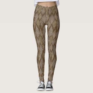 Peau de serpent stylisée leggings
