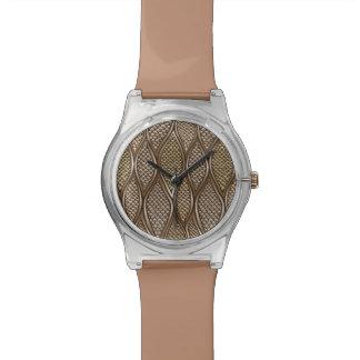 Peau de serpent stylisée montres bracelet