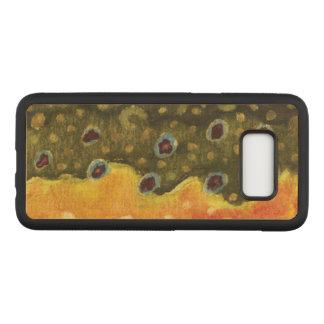 Peau de truite de Brown - pêche, ichtyologie Coque Samsung Galaxy S8 Par Carved