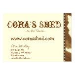 peau et clous, le hangar de Cora,… sur le ranch .. Modèle De Carte De Visite