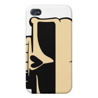 Peau jaune de crâne d'iPhone Étui iPhone 4
