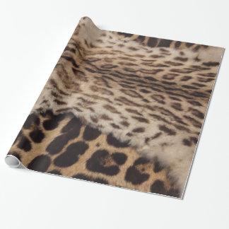 Peaux de furr de grand chat papier cadeau
