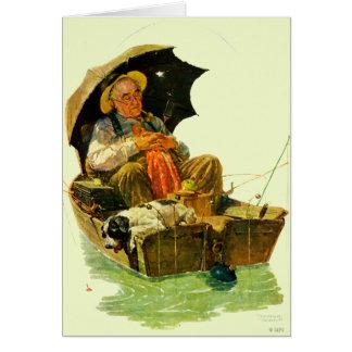 Pêche allée carte de vœux