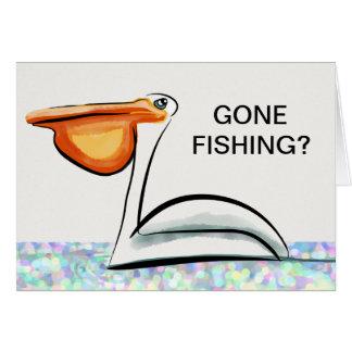 Pêche allée - meilleur de la chance sur votre retr carte de vœux