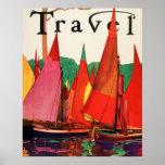 Pêche antique vintage de magazine de voyage de l'I Posters