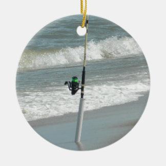 Pêche au surfcasting ornement rond en céramique