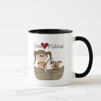 Pêche d'amour de filles mug