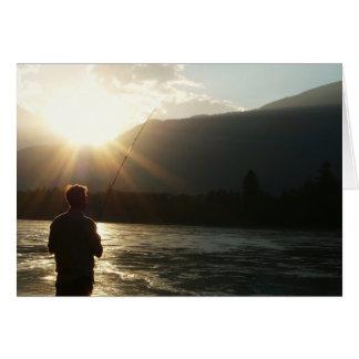 Pêche dans Sunbeam Carte De Vœux