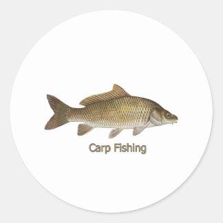 Pêche de carpe adhésifs ronds